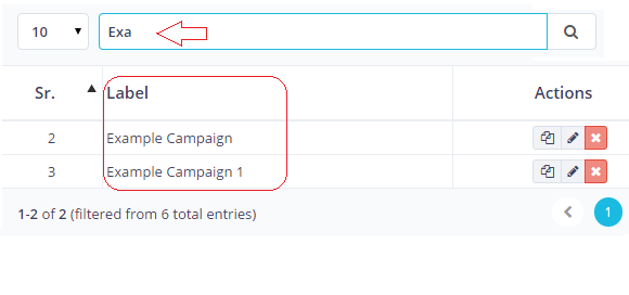 Search Email Campaigns