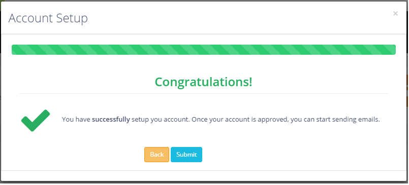 Successfully Setup Account