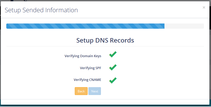 Successfully Verified DNS Entries