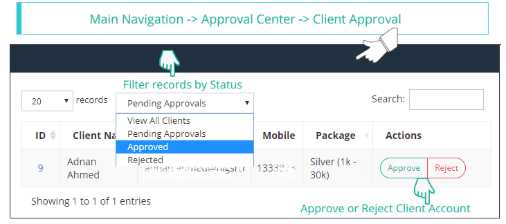 Client Approval