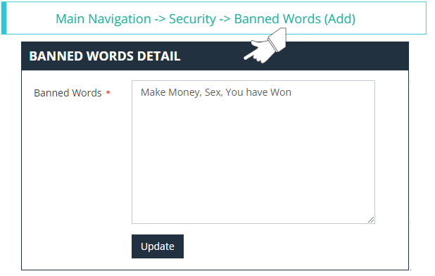 Adding Banned Words