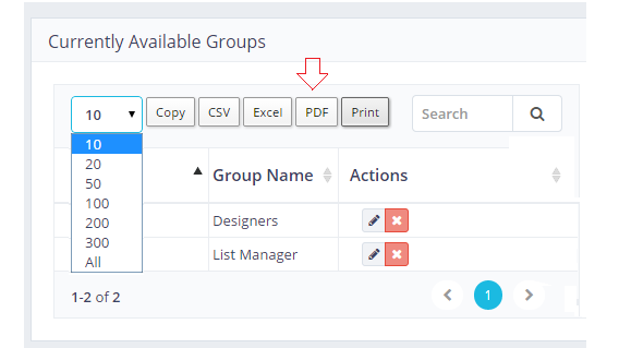 Copy Table-User Groups